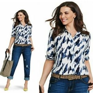 CAbi #3096 Moody Blues Blouse